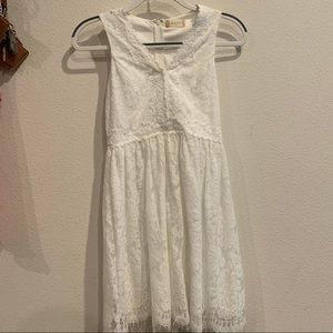 Fit and Flare Altar'd State White Lace Dress